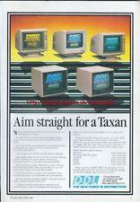 """Aim Straight For A Taxan"" DDL 1985 Vintage Magazine Advert #5263"