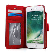 """Prodigee Wallegee Red iPhone 7 4.7""""  2 in 1 Card Wallet Leather Flip Case Cover"""