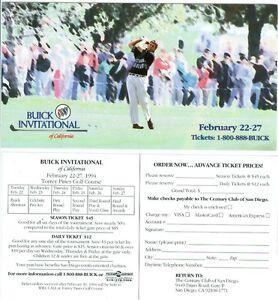 1994 Buick Invitational PGA Golf Tournament Ticket Brochure Phil Mickelson