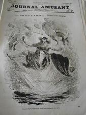Journal Amusant 1864 Nouvelle Marine Pierrots Croquis Parisiens
