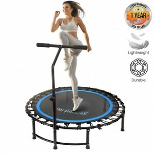 """SereneLife SLELT418 Fitness Exercise Mini Trampoline - 35.4"""" inch, W/ Bar Handle"""