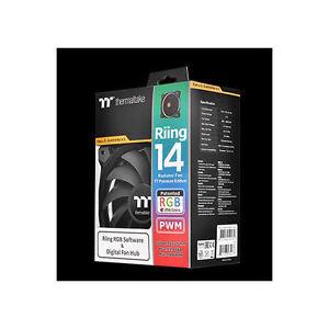 Thermaltake CL-F051-PL14SW-A TT Riing 14 RGB Radiator PWM Fan TT Premium Edition