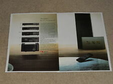 Nakamichi 1986 System Ad, 2 pages, PA-7 Amp, CR-7a Cassette, OMS-7AII, CA-7A