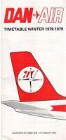 DAN AIR TIMETABLE WINTER 1978/79