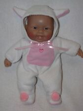 """Cute 11"""" Berenguer Baby Doll Dressed In White As A Lamb"""