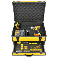 DeWalt DCD796 18V XR BL Combi Drill With 1 x DCB184, Charger & 70pc Acc. In Case
