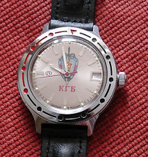 Wrist Mechanical Automatic Watch VOSTOK KOMANDIRSKIE Commander KGB USSR 921892
