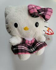 "Ty Beanie Baby Sanrio HELLO KITTY 6"" Cat Collectible Stuffed Animal Plush Toy"