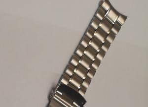 20mm WATCH BRACELET FOR Casio Edifice watches curved end Stainless Steel