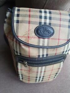 BURBERRY Vintage Unisex Large Rucksack Backpack String Bag Purse Nova Check