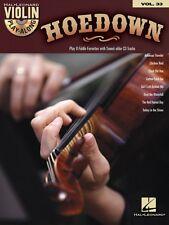 Hoedown Violin Play-Along Book and CD NEW 000102161