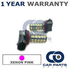 2X XENON PINK H8 60 SMD LED FOG LIGHT BULBS FOR KIA CARENS CEED CEE'D SEDONA