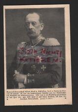 1913, Bildnis Portrait Generalfeldmarschall Alfred Graf v. Schlieffen
