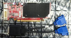 ATI-102-A924 256MB VGA video card with DVI to VGA splitter low bracket