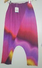 bnwt Issey Miyake Pleats Please dropped crotch Harem cropped trousers.sz 3.RARE!