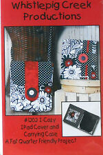 "QUILT PATTERN - WHISTLEPIG CREEK ""I-COZY"" IPAD COVER AND CARRYING CASE - NIP!"