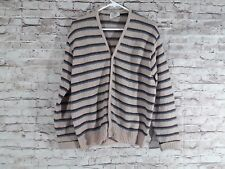Norwegian Brand Cardigan Sweater Size Medium Button Striped Vintage Soft Wool?