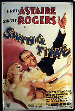 Ginger Rogers Fred Astaire Swing Time Blechschild 3D geprägt Tin Sign 20 x 30 cm