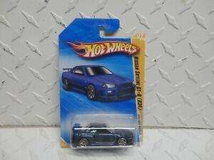 2010 Hot Wheels #7 Blue Nissan Skyline GT-R (R34)