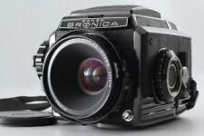 【EXC+++】Bronica S2A BLack Late Model Camera Nikkor P.C 75mm F/2.8 From JapanA565