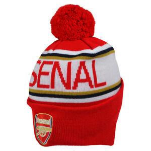 ARSENAL FC KNITTED POM BEANIE/TOQUE OFFICIALLY LICENSED