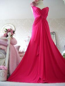 Monsoon size 20 New tags magenta pink stretch maxi dress wedding