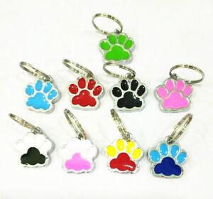 5pcs Dog paw dangle Hang Charm Pendant Jump Ring DIY Bracelet Keychain keyring