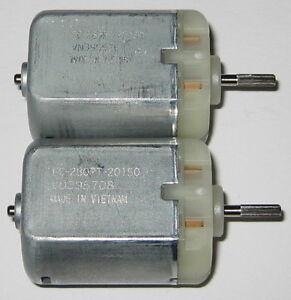 2 X Mabuchi FC-280PT 12 V DC Splined Shaft Automotive Electric Motor Mirror Lock