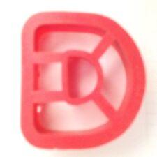 """Red 2 1/4"""" Alphabet Letter -D- Cookie Cutter Art Mold"""