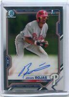 2021 Bowman Johan Rojas Chrome Autograph Auto Philadelphia Phillies RC 1st