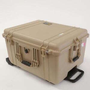 Pelican 1620 Watertight Hard Case with Wheels without Foam, Desert Tan
