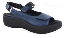 Wolky Jewel Denim Canals Comfort Ankle Strap Sandal Women's sizes 36-42/5-11 NEW