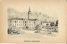 Stampa antica MONTE ORTONE TERME Padova Veneto 1885 Old antique print