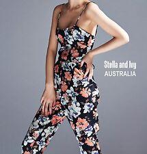 au womens playsuit jumpsuit floral size 8 new
