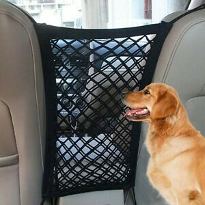Dog Seat Cover Car Protection Net Pet Mesh Safety Travel Back Seat Barrier Black