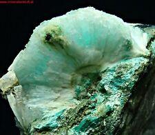 special blue ARAGONITE crystal Malachit + ? RINGENWECHSEL Schwaz Tirol Austria r