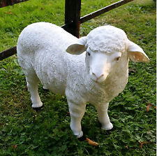 Decorative Small Lamb Sheep Ornamental Statue Figurine Garden Sculpture