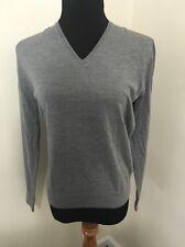 PRADA  V-neck wool sweater Gray Sz 50