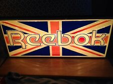 "Rare LIGHT UP REEBOK Shoe Store Advertising Sign Display 24 "" x 10 "" huge neon"