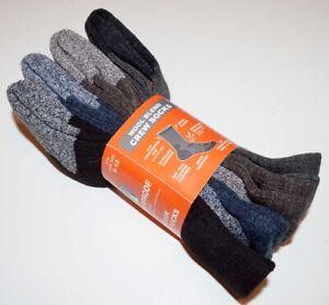4 Pack - Weatherproof  Outdoor Wool Blend Crew Socks - Men's Size 6-12 - Multi