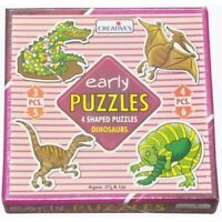 NEW Early Puzzle DINOSAURS Educational Toy TODDLER PRESCHOOL Jigsaw - 4 PUZZLES