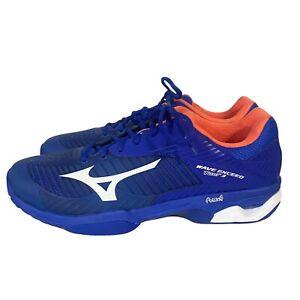 Mens Mizuno Wave Exceed Tour 3 Athletic Tennis Court Shoes Size 10.5 Blue Orange