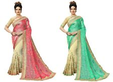 Indian Latest Women's Bollywood Designer Party wear Style Brasso,Georgette Saree