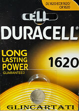 DURACELL CR1620 PILA BOTTONE A LITIO 3V DL1620/ECR1620