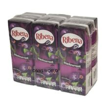 RIBERA Cassis saveur jus de cartons de boisson de vrais fruits Pack de 6 x 250 ml