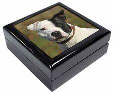 Staffordshire Bull Terrier Keepsake/Jewellery Box Christmas Gift, AD-SBT13JB
