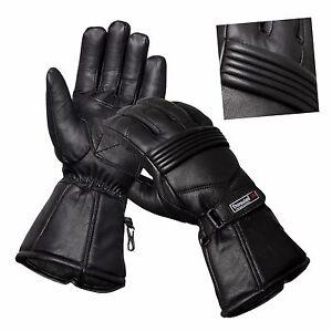 Thermal Motorbike Motorcycle Leather Gloves Waterproof Protection Winter Summer