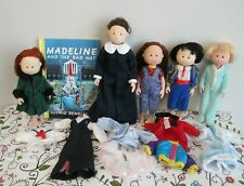 Very Cool, All Vinyl Dressed Madeline & Friends Doll Lot by Eden Toys, + Book!