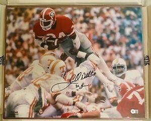 Herschel Walker 82 Heisman Autographed Georgia Bulldogs 16x20 Photo - BAS COA