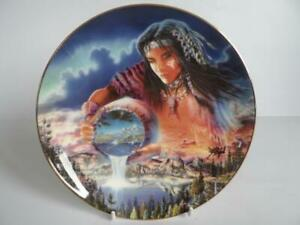 FRANKLIN MINT HEIRLOOM ROYAL DOULTON THE WATERS OF LIFE AMERICAN INDIAN PLATE